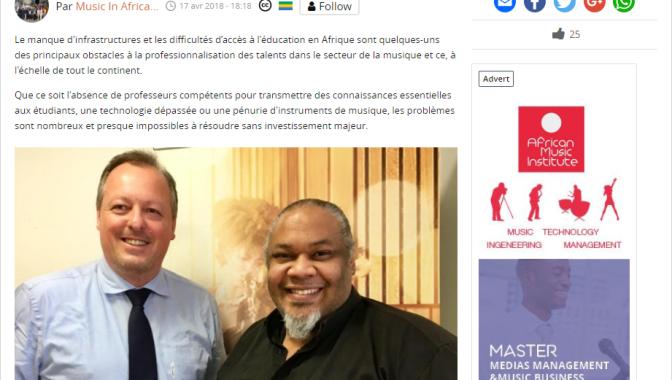 Interview de Nicolas Boudeville, Directeur Général de l'AMI et Michael Sean Harris, Recteur dans Music In Africa